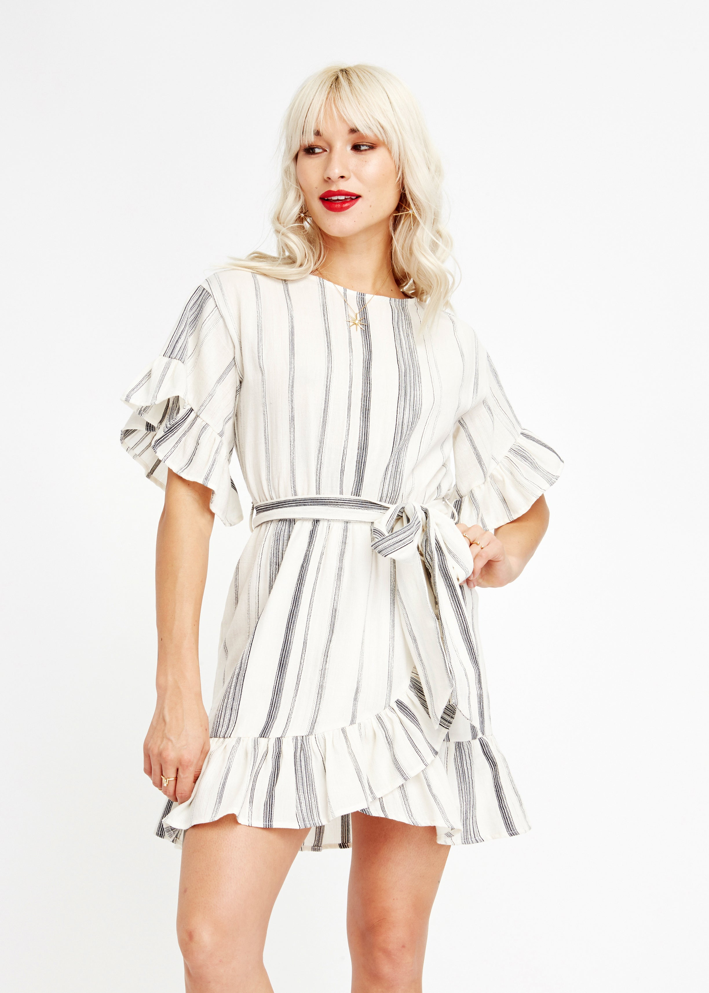 Marbella Ruffle Mini Dress