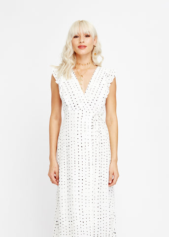 Dottie Ruffle Midi Dress