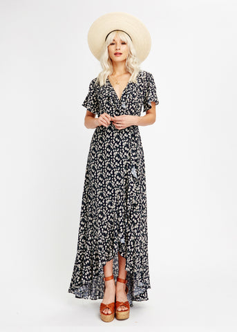 Araceli Wrap Maxi Dress