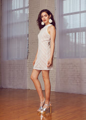 Champagne Halter Dress