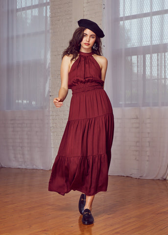 Bordeaux Maxi Dress