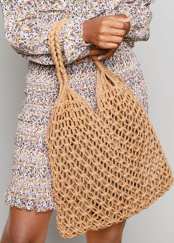 CARRY SWEET FRUITS BAG // TAN