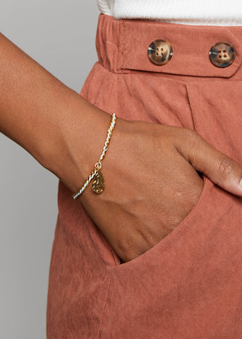 GOLDEN LEAF BRACELET // MINT