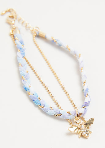 BEE GOLD DUO BRACELET // RAIN SHOWER