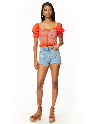 Bloody Mary Smocked Top