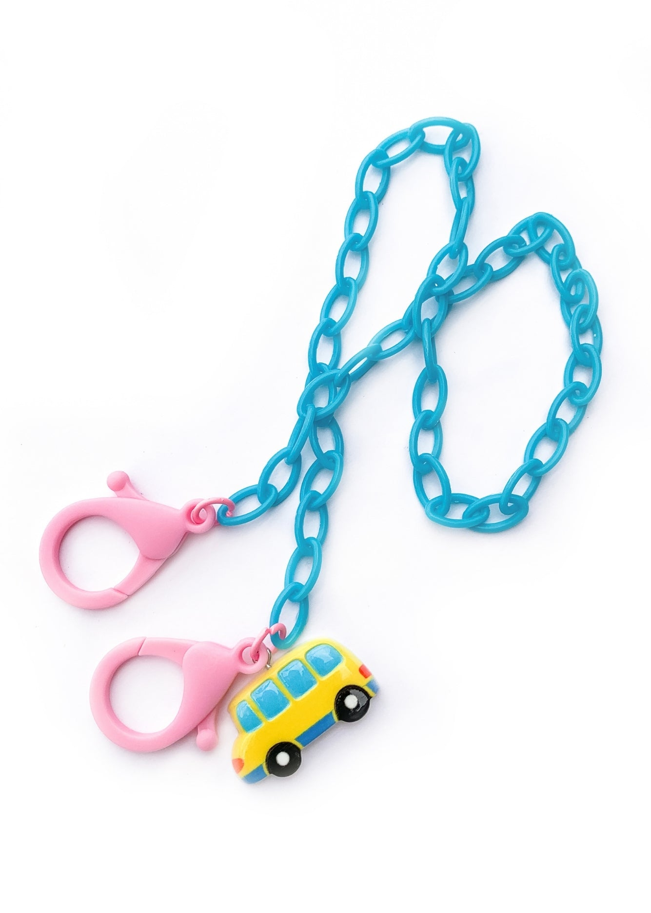 School Bus Kids Mask Chain