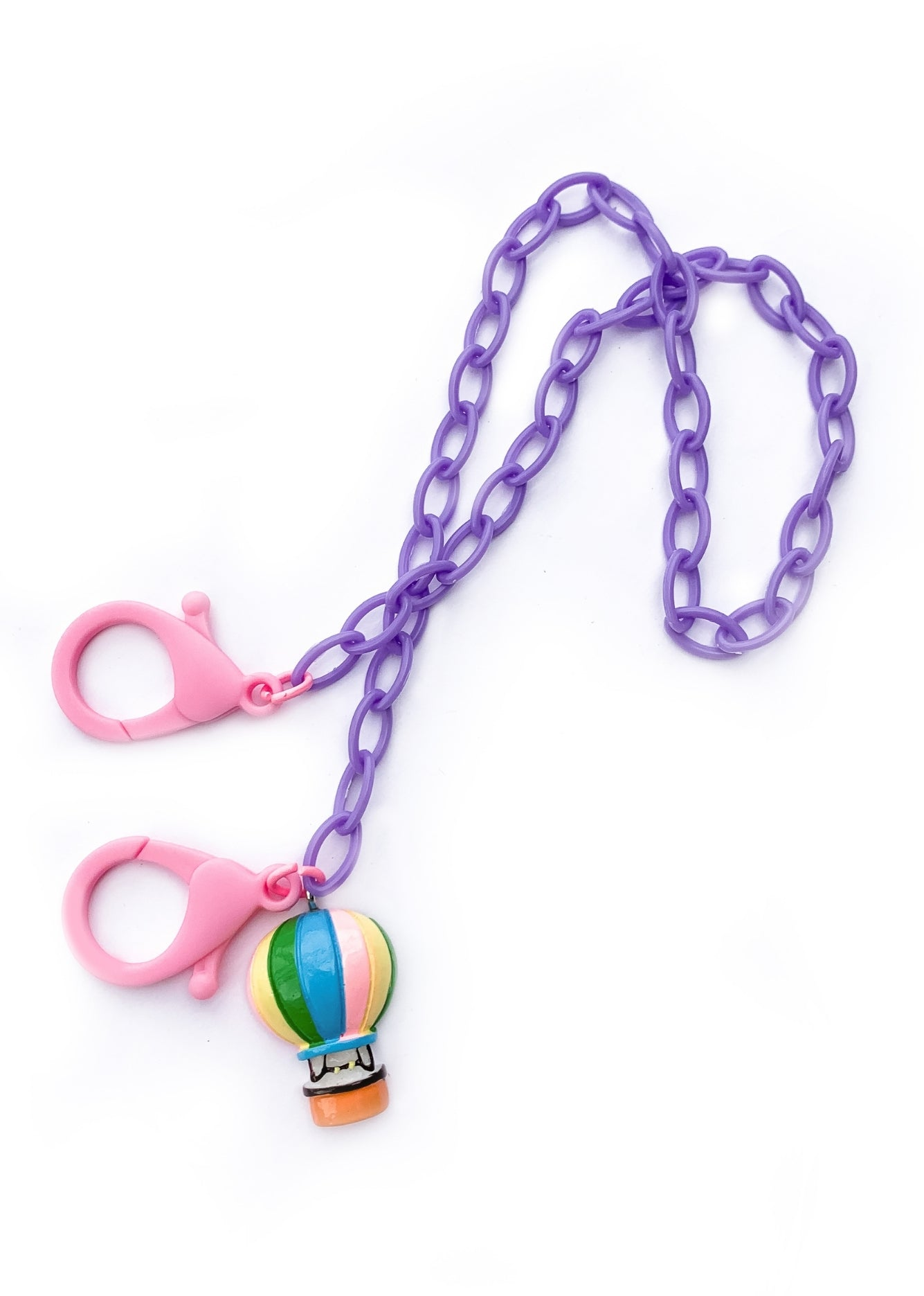 Hot Air Balloon Kids Mask Chain