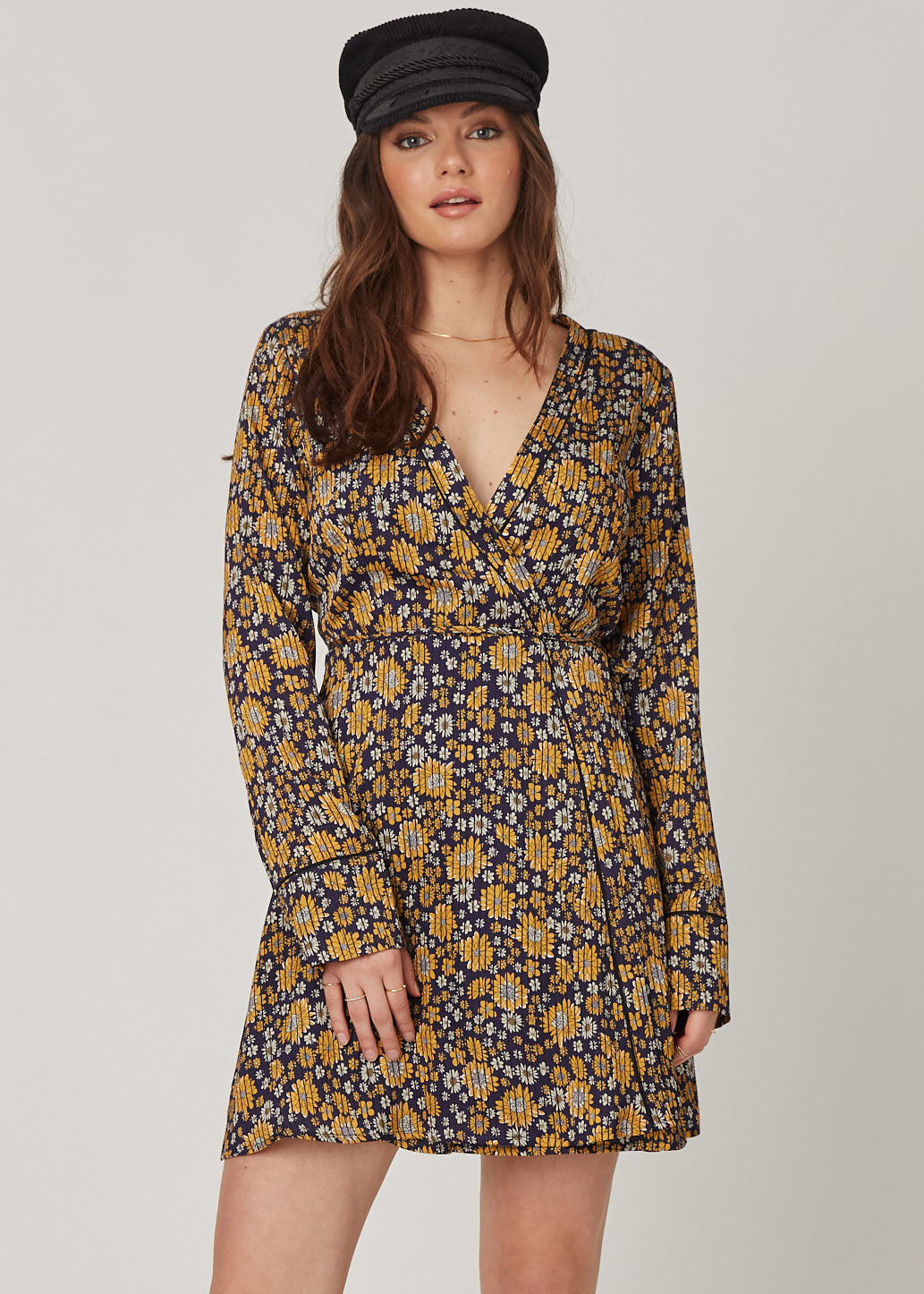 Sunburst Wrap Dress
