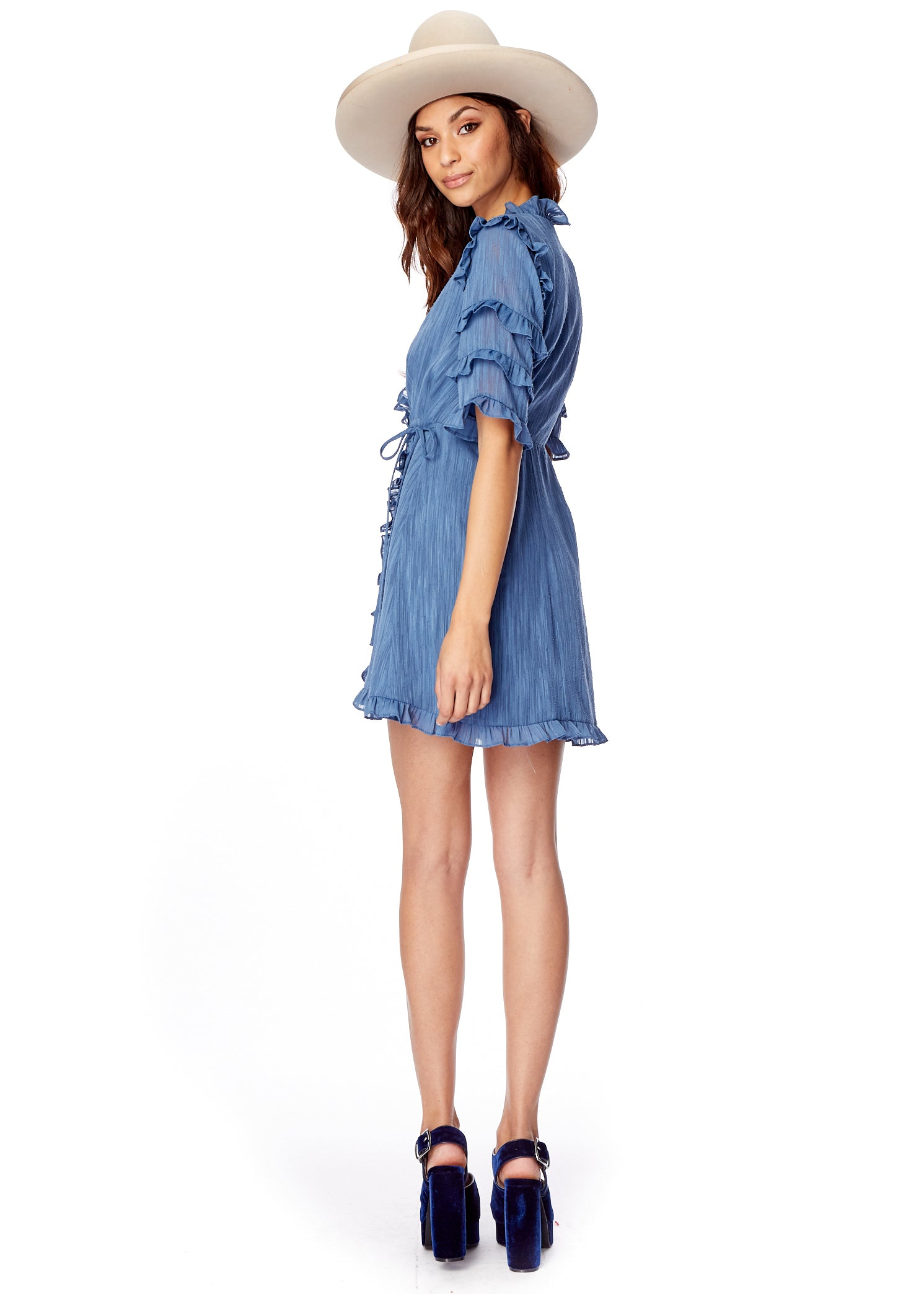 Moon Child Ruffle Mini Dress