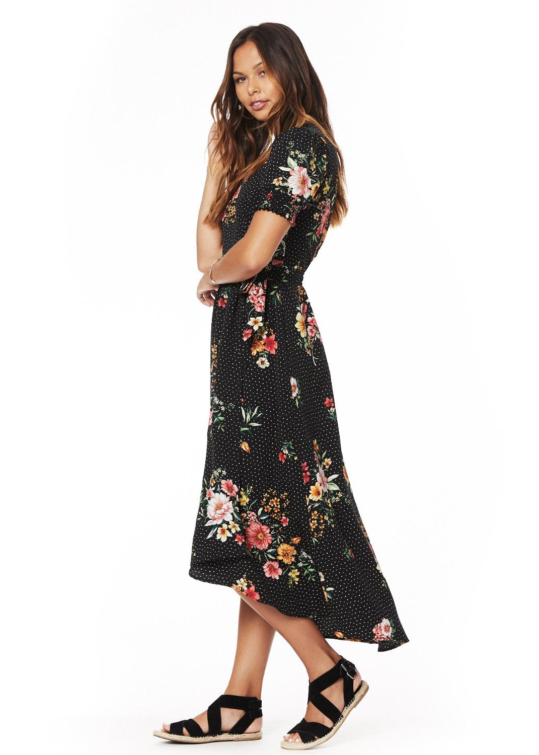 Downtown Floral Midi Dress