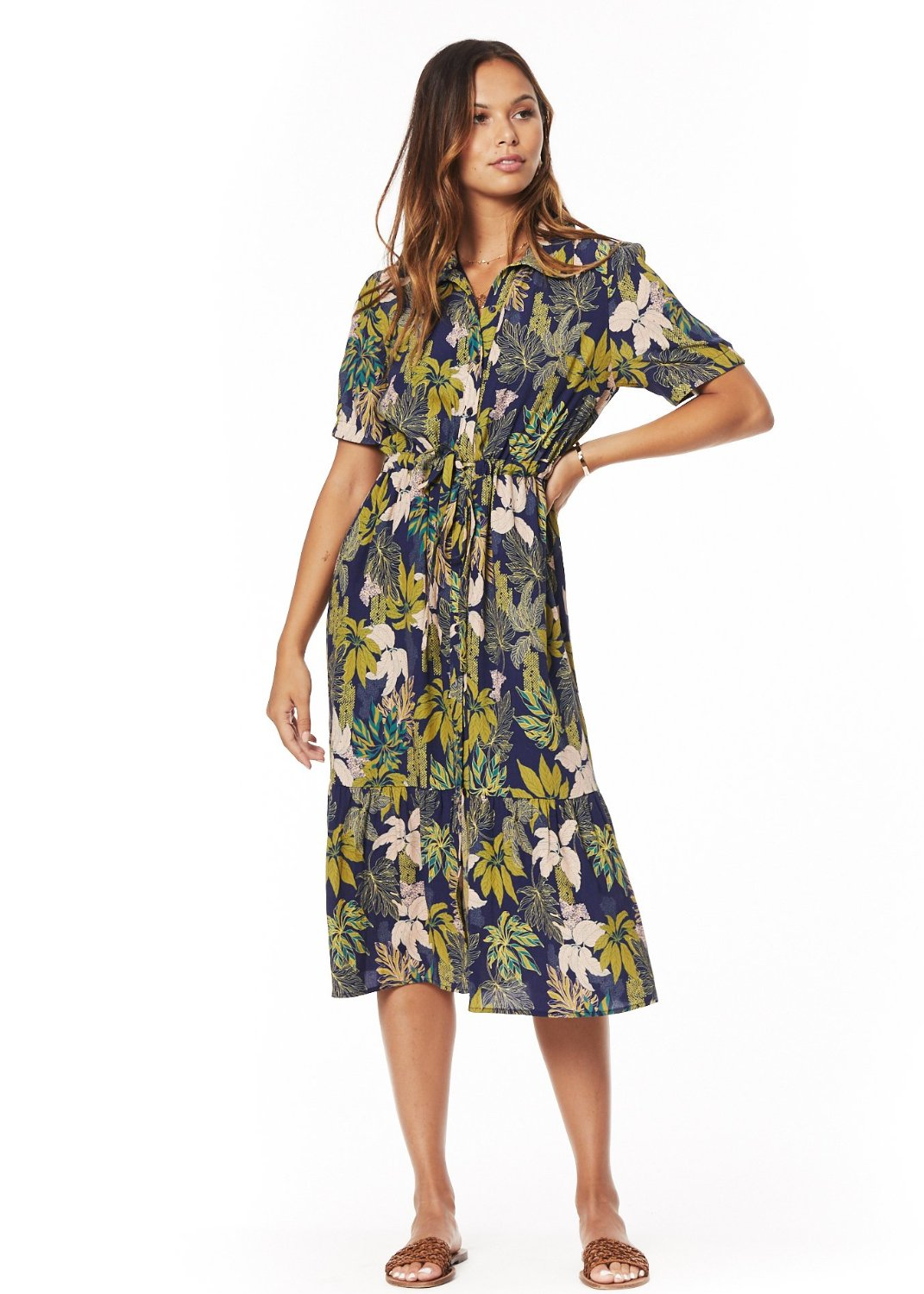 Isla Botanical Button Down Dress