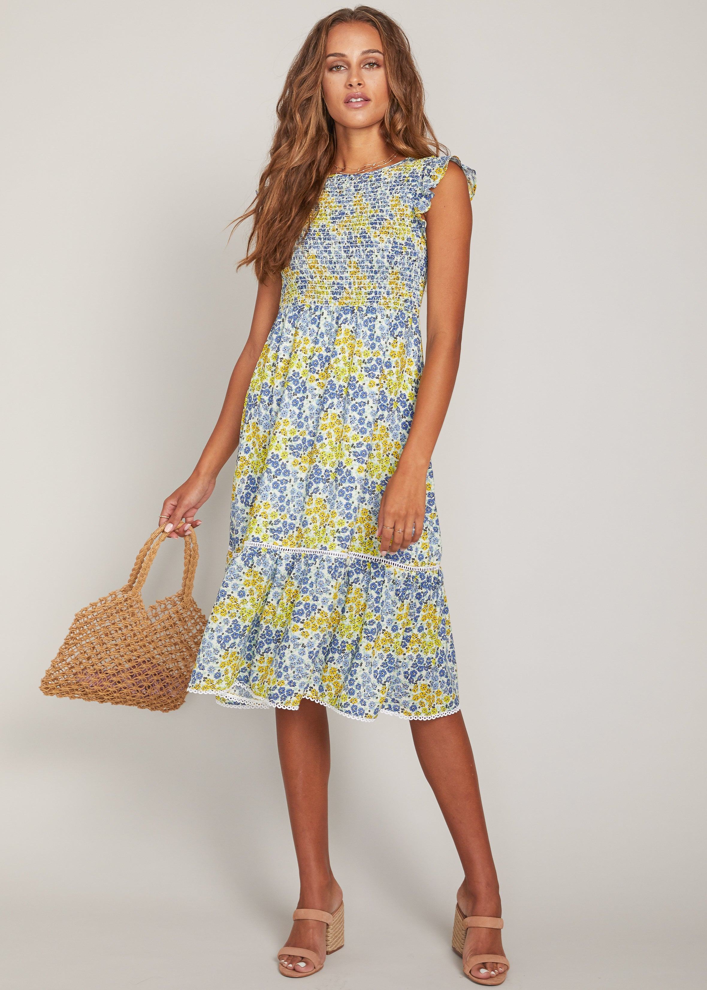 Blossom And Bloom Midi Dress