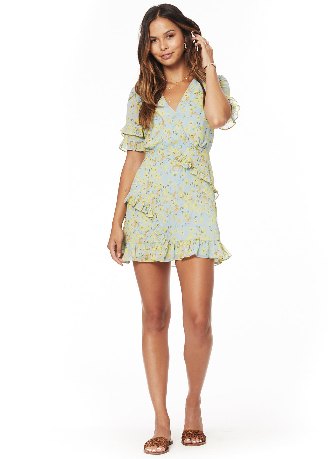 Fields Ruffle Mini Dress