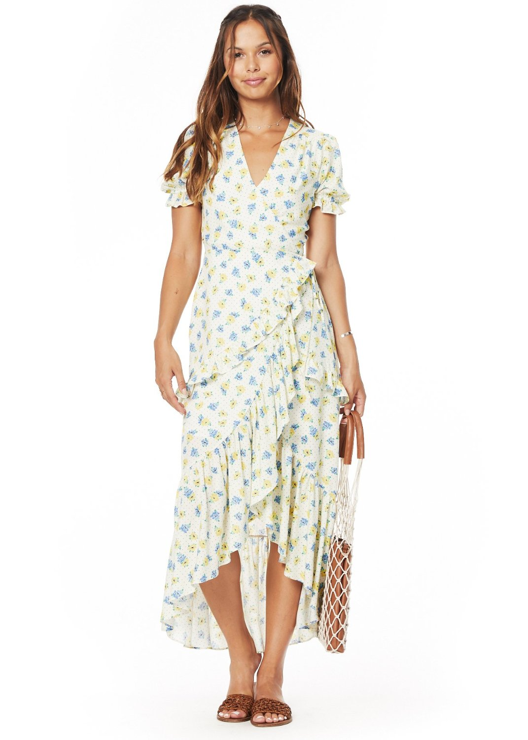 Mama Mia Ruffle Midi Dress