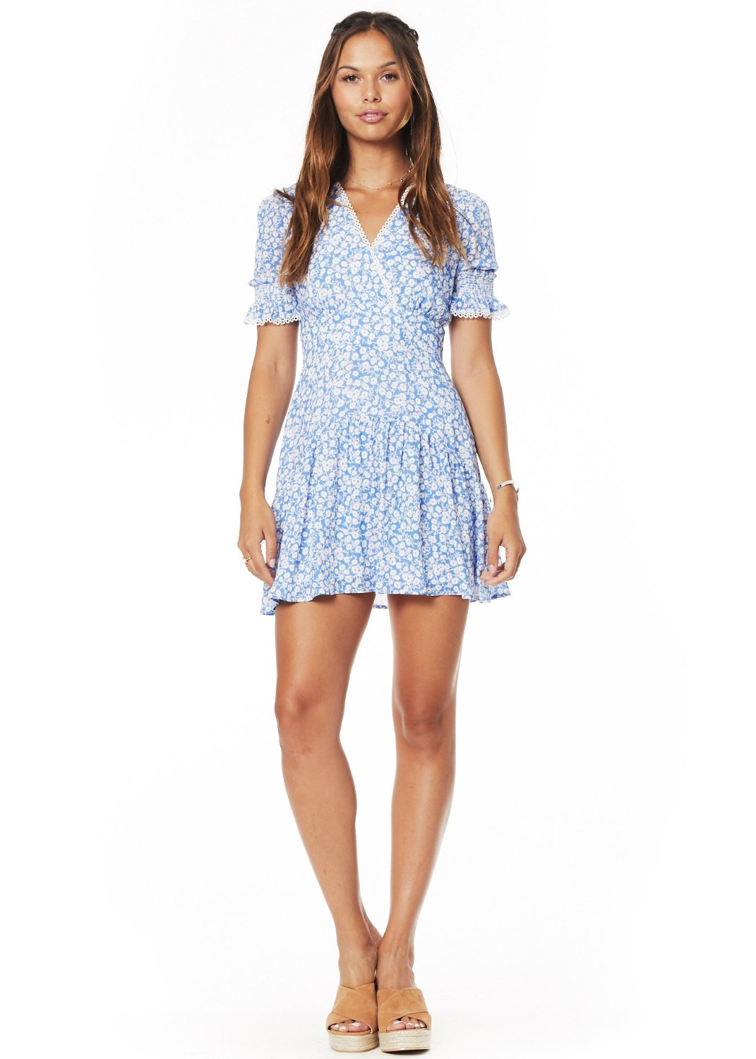 Pick Me Wrap Mini Dress
