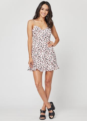 Mia Leopard Print Mini Dress