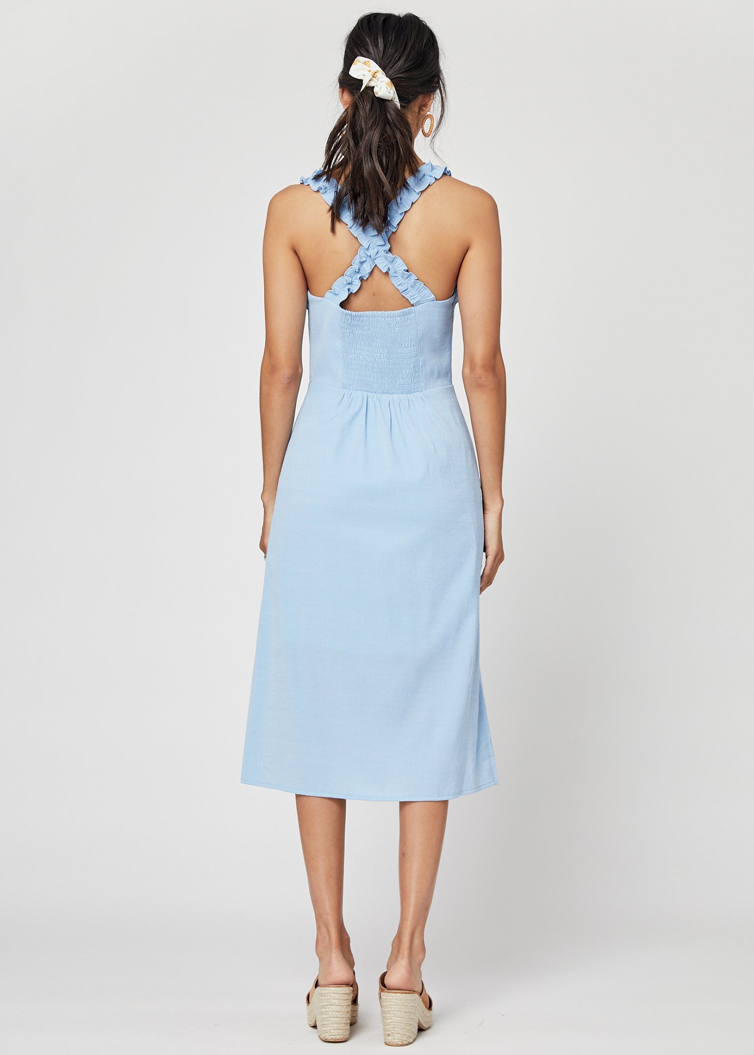 Bella Ruffle Midi Dress