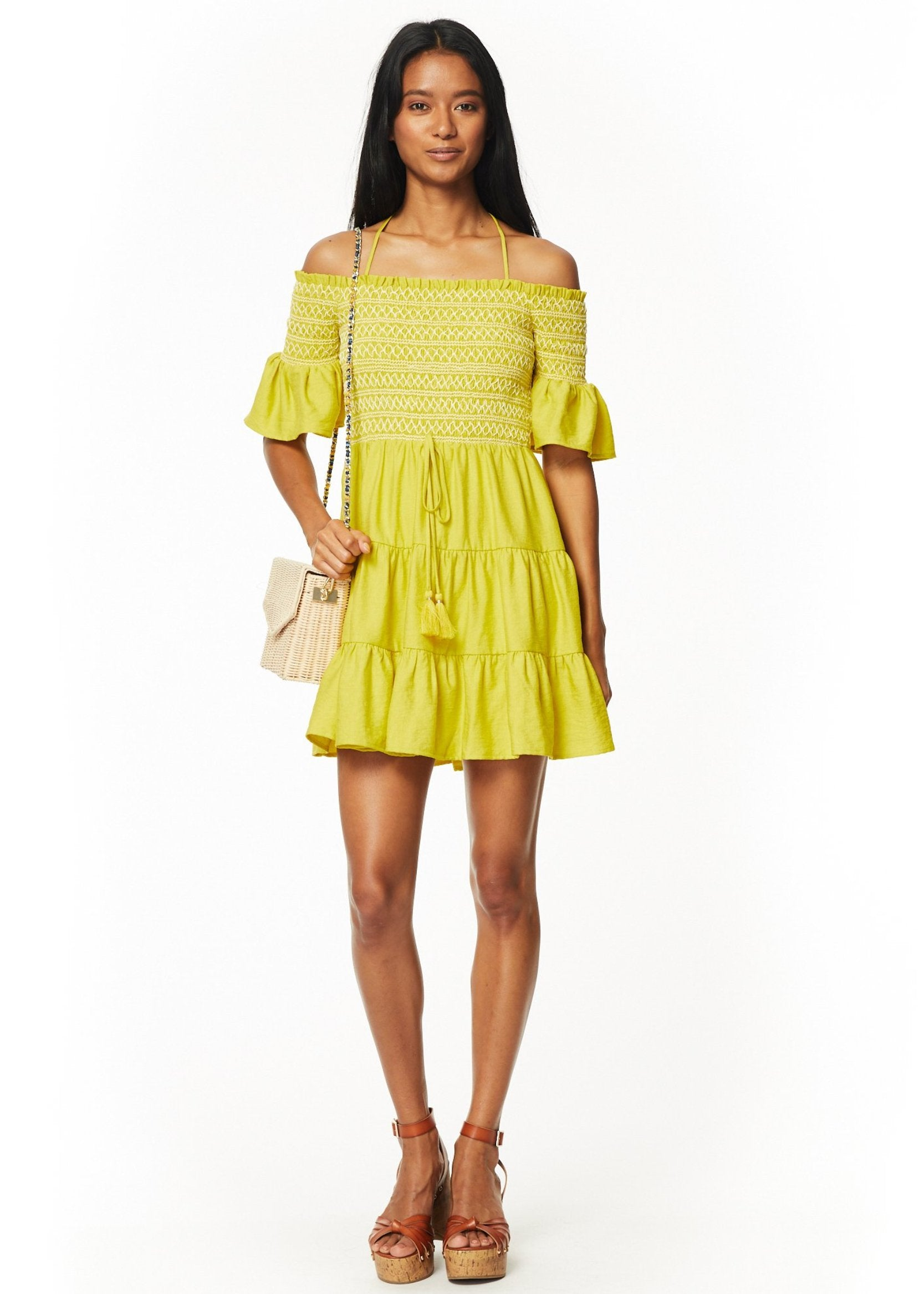 Mojito Tiered Mini Dress