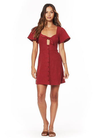 Bloody Mary Double Tie Mini Dress