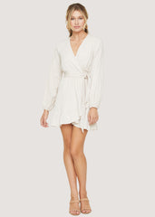 Fly Away Wrap Mini Dress