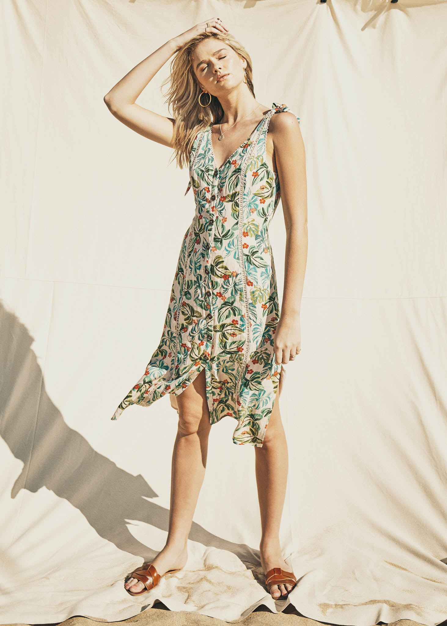 Luau on the Beach Midi Dress