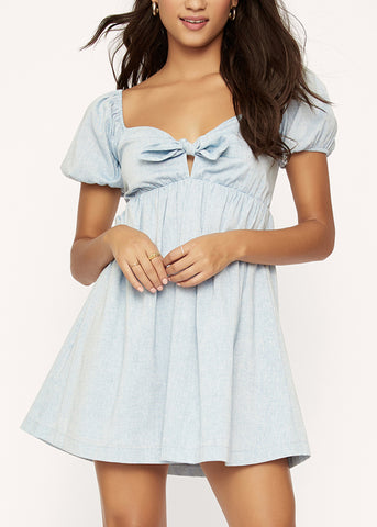 Blue Lagoon Baby Doll Dress