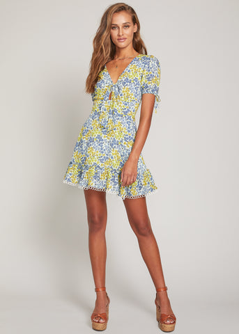 Blossom And Bloom Short Sleeve Mini Dress