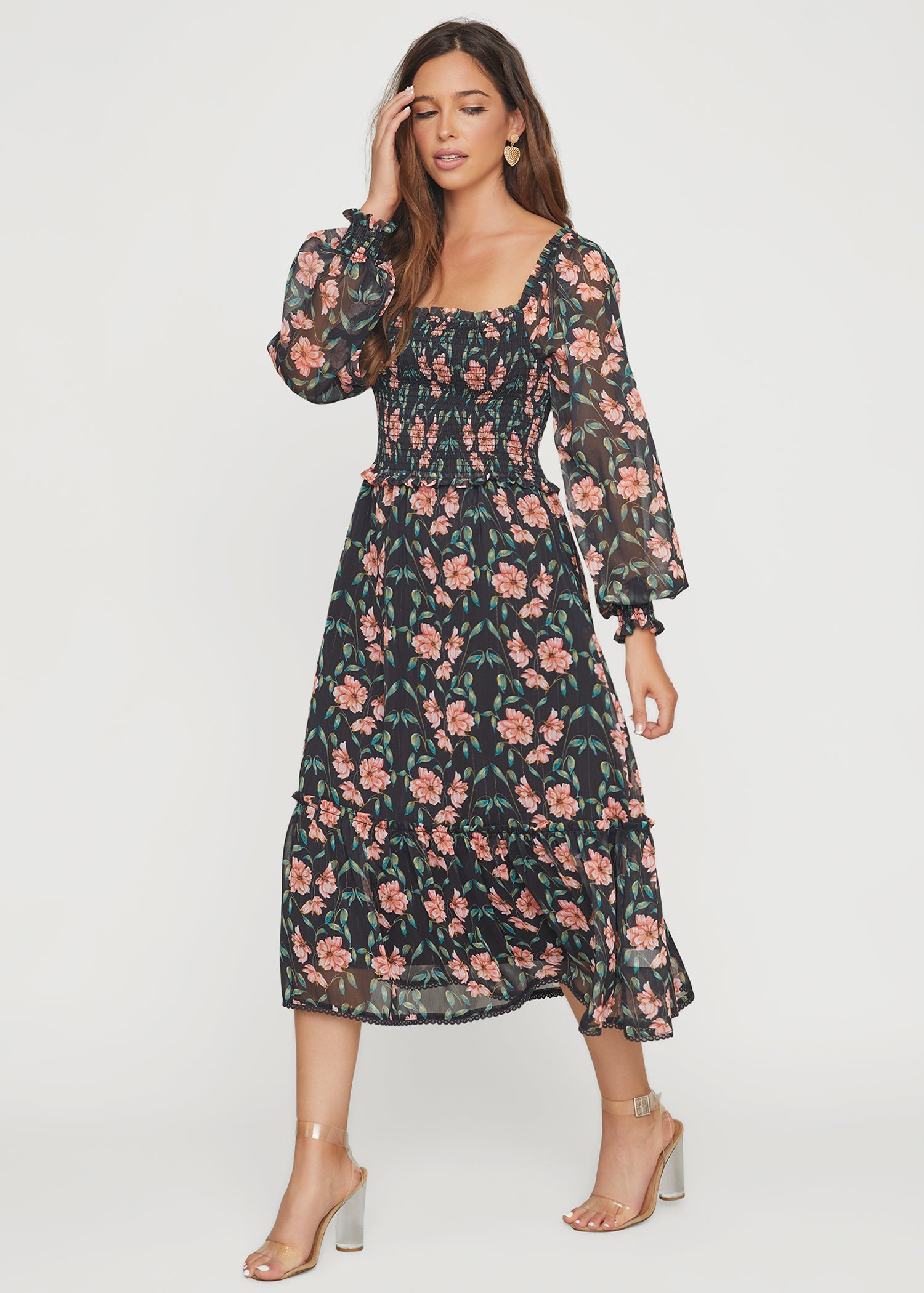 Chasing The Sun Smocked Maxi Dress