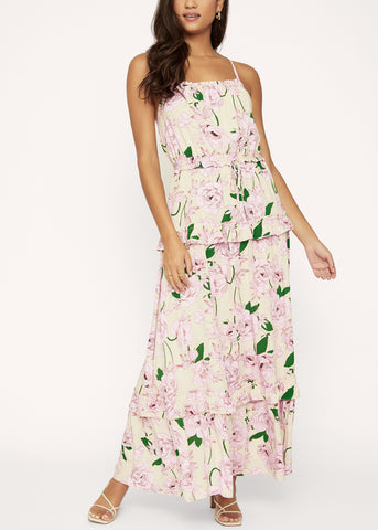 Hawaiian Rose Maxi Dress