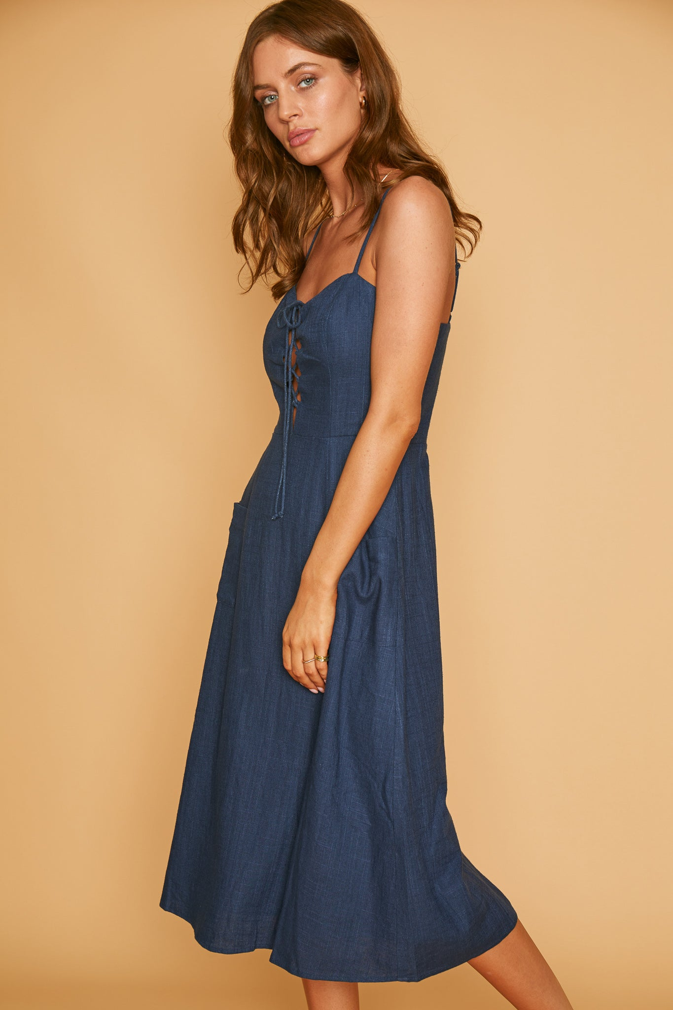 Out of the Blue Midi Dress
