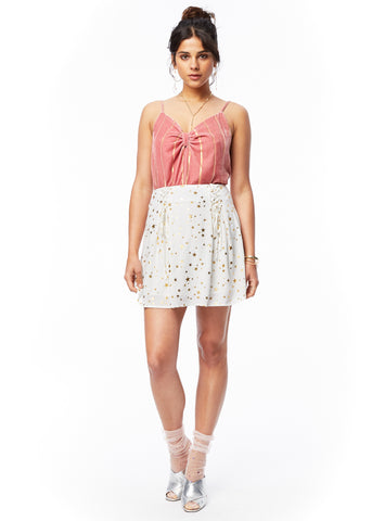 Starstruck Lace Up Mini Skirt