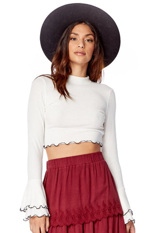 Moon Child Ruffle Top
