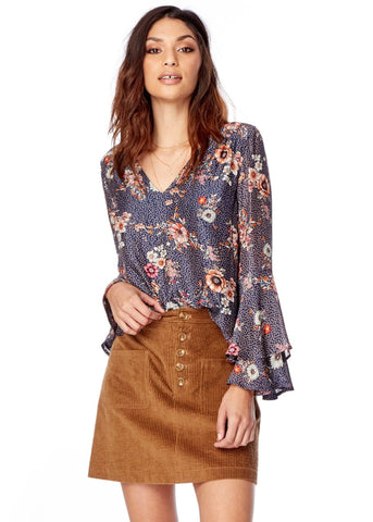Cactus Bloom Wrap Top