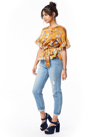 Golden Luxe Ruffle Top