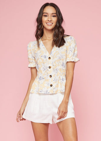 Luci Button Down Top