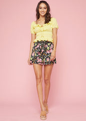 Piña Smocked Crop Top