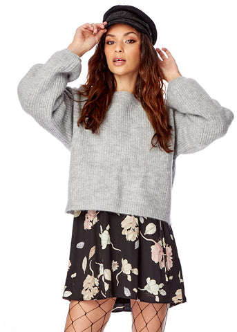 Maya Lace-Up Sweater