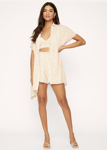 Hawaiian Rose Romper