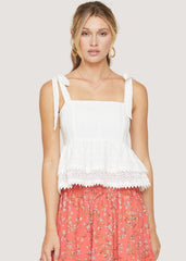 Middle Of Nowhere Ruffle Top