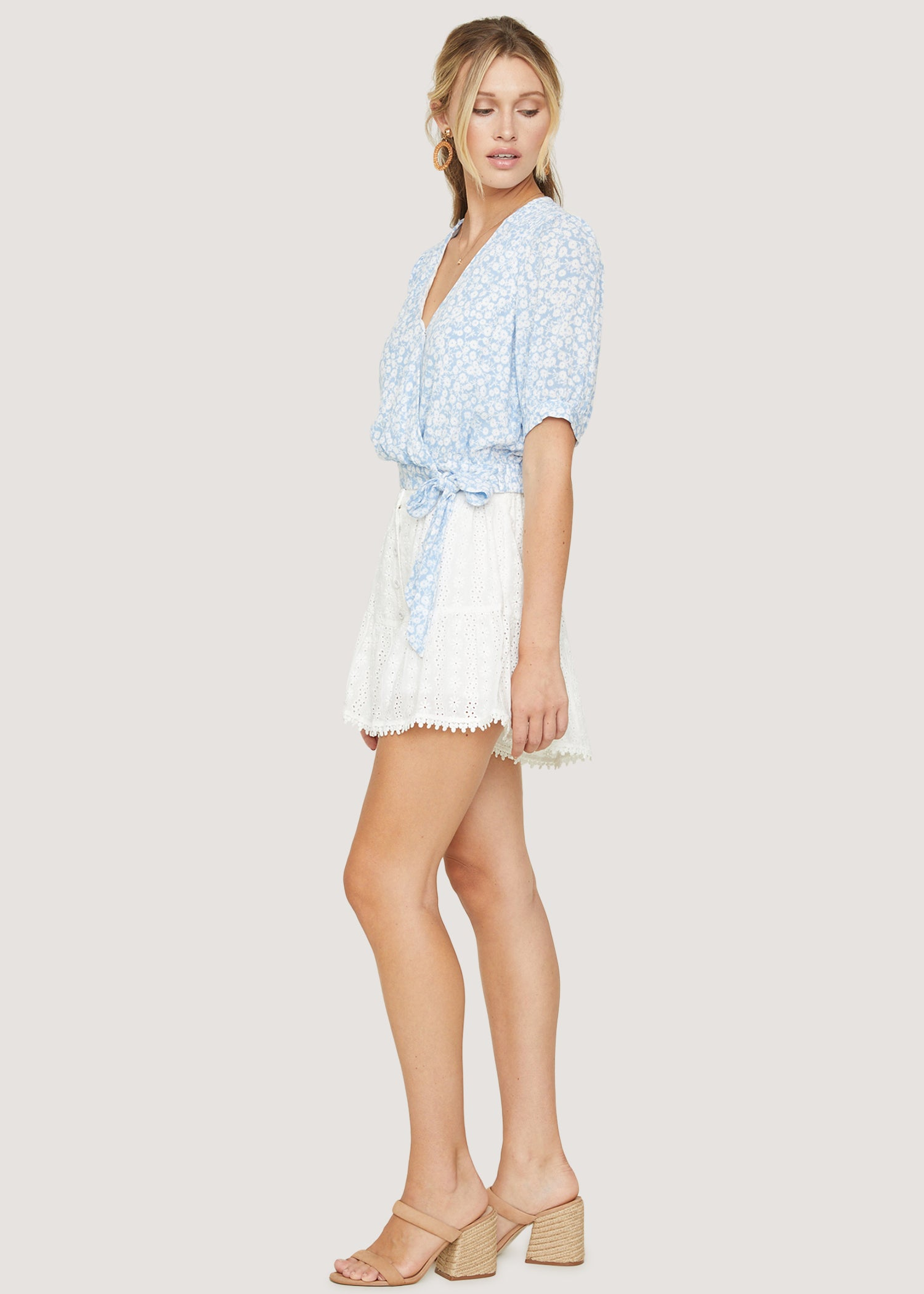 Seaside Breeze Surplice Top