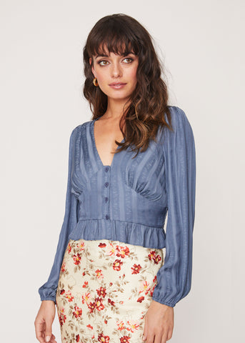 Cocktails in Corsica Blouse Top