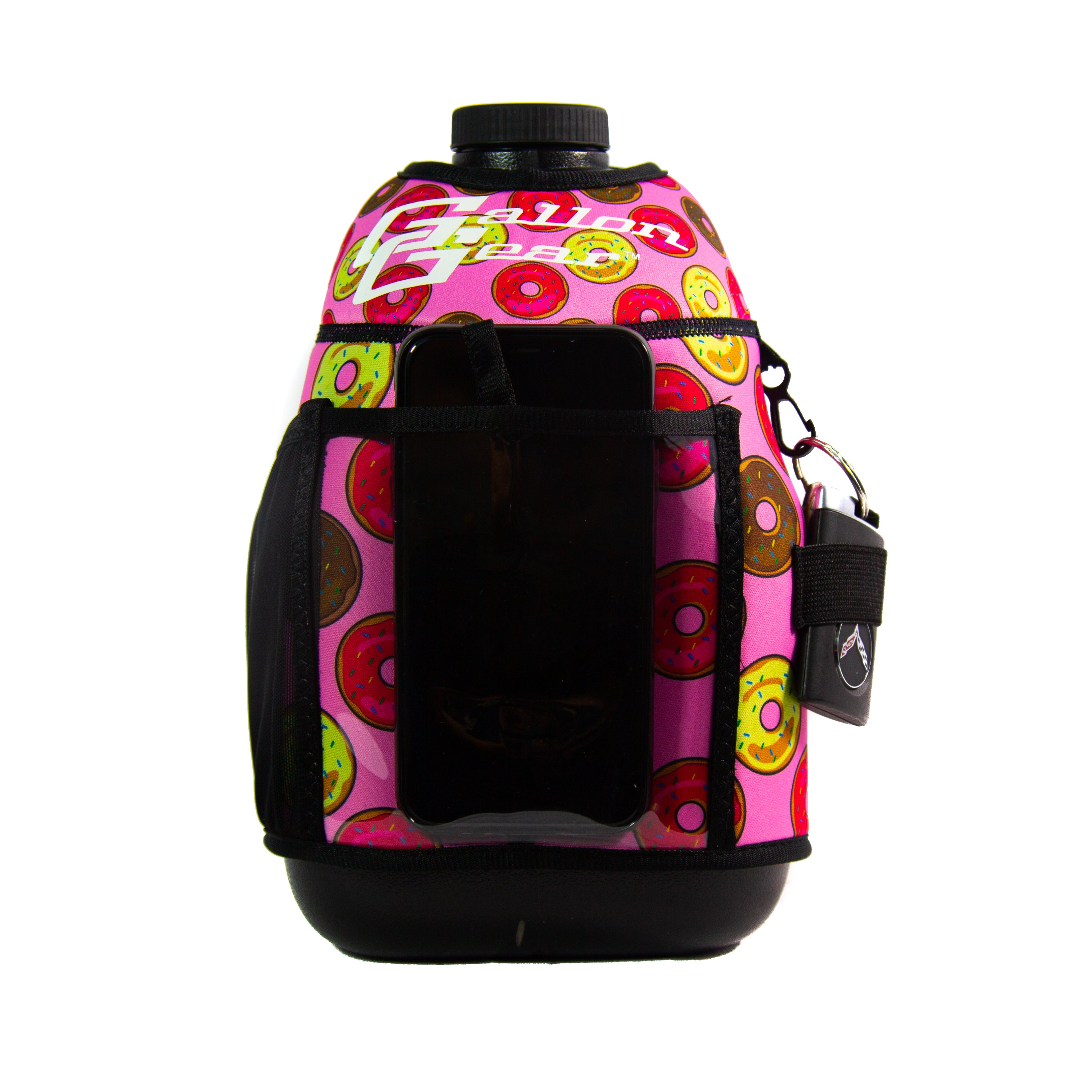 Pink Donut Gallon Gear Fitness Hydration Cover