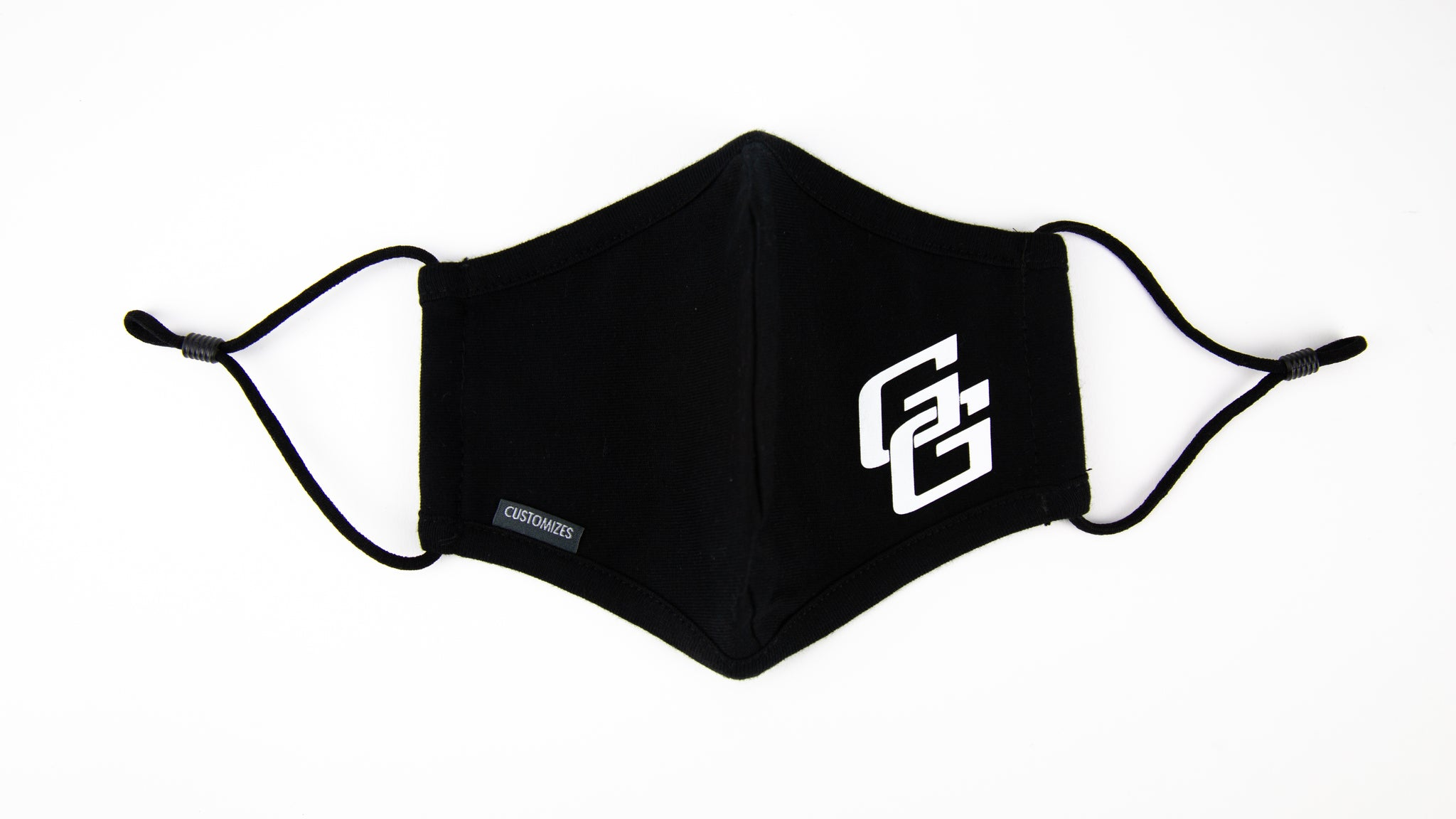 Black w/ white logo Face Mask