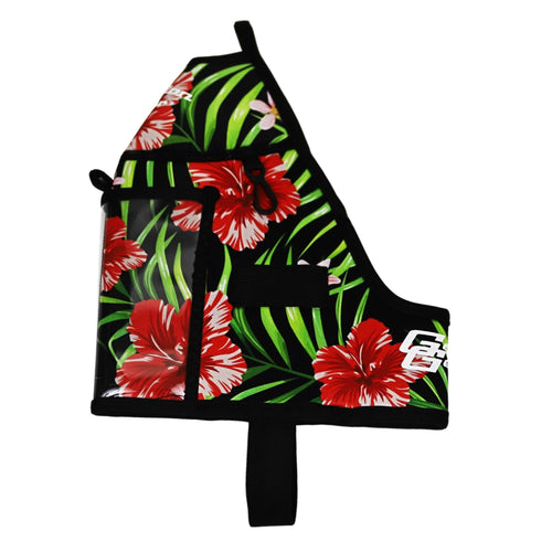 Black Floral Half Gallon Gear Fitness Hydration Cover