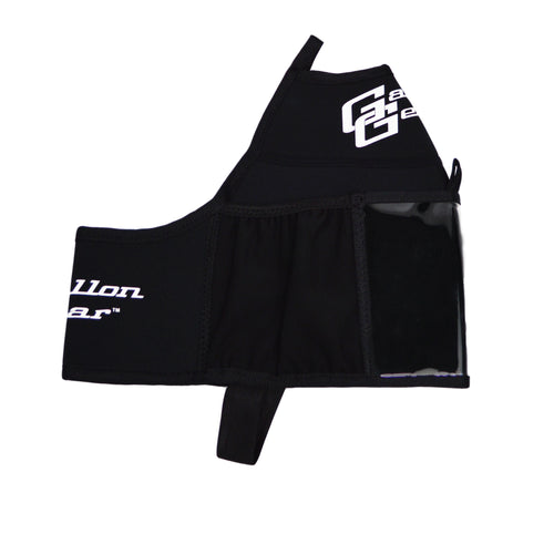 Black with White Logo Gallon Gear Fitness Hydration Cover