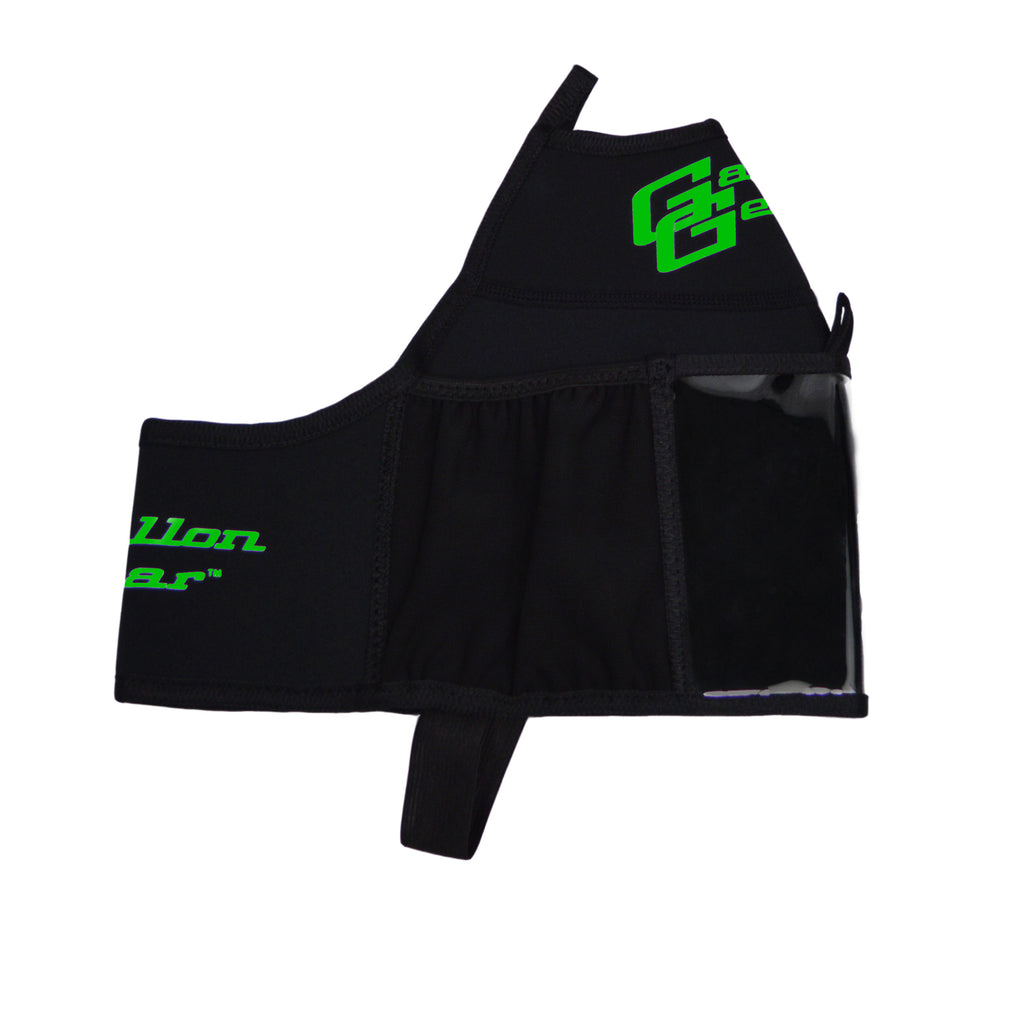 Black with Green Logo Gallon Gear Fitness Hydration Cover
