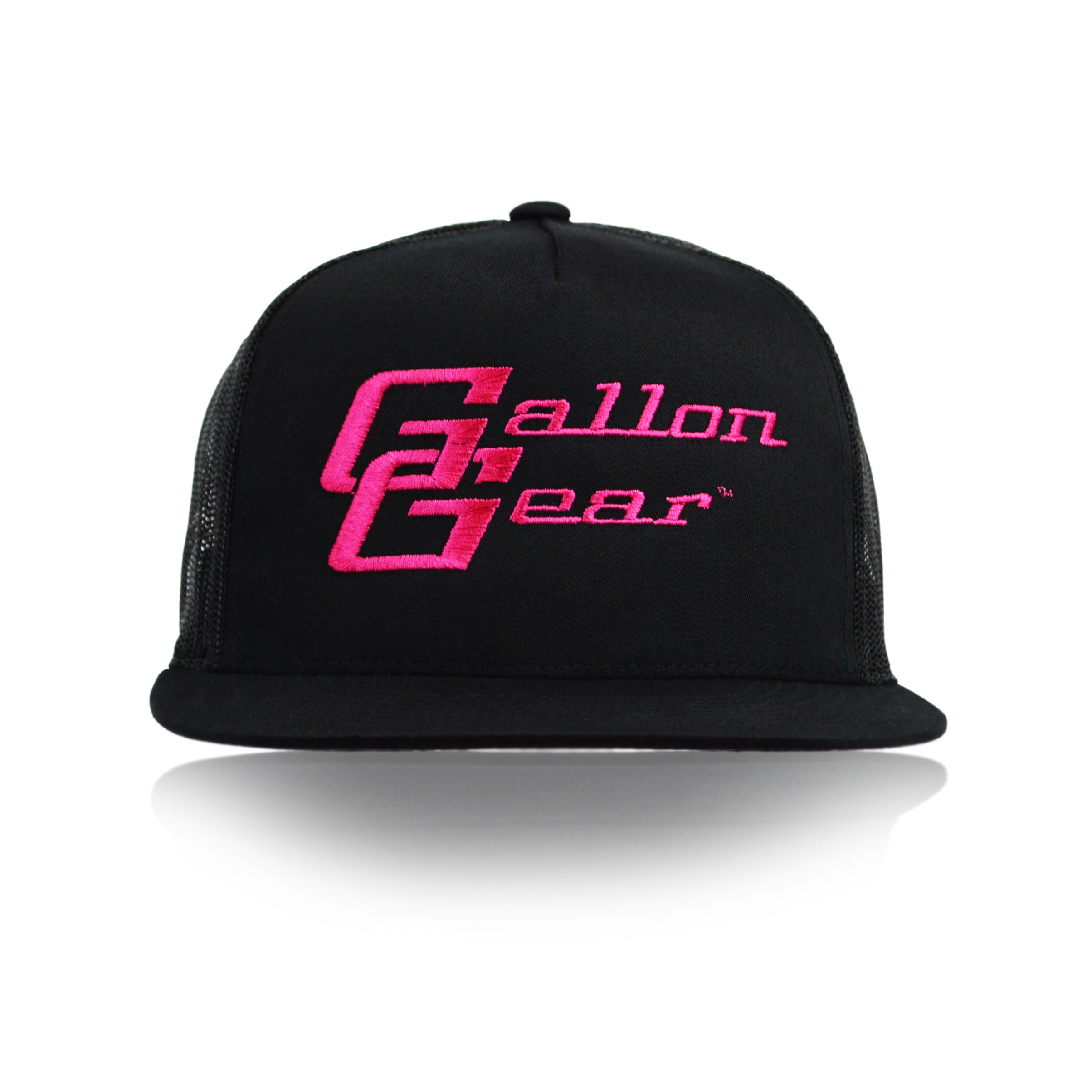 Black/ Black Mesh with Pink Logo