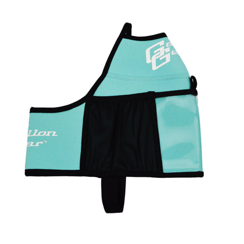Black with Blue Logo Gallon Gear Fitness Hydration Cover