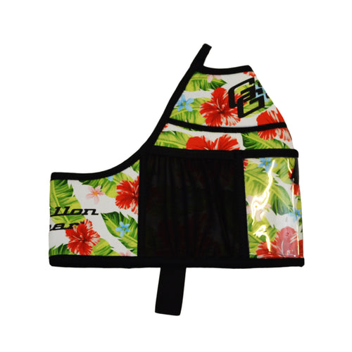 White Floral Gallon Gear Fitness Hydration Cover