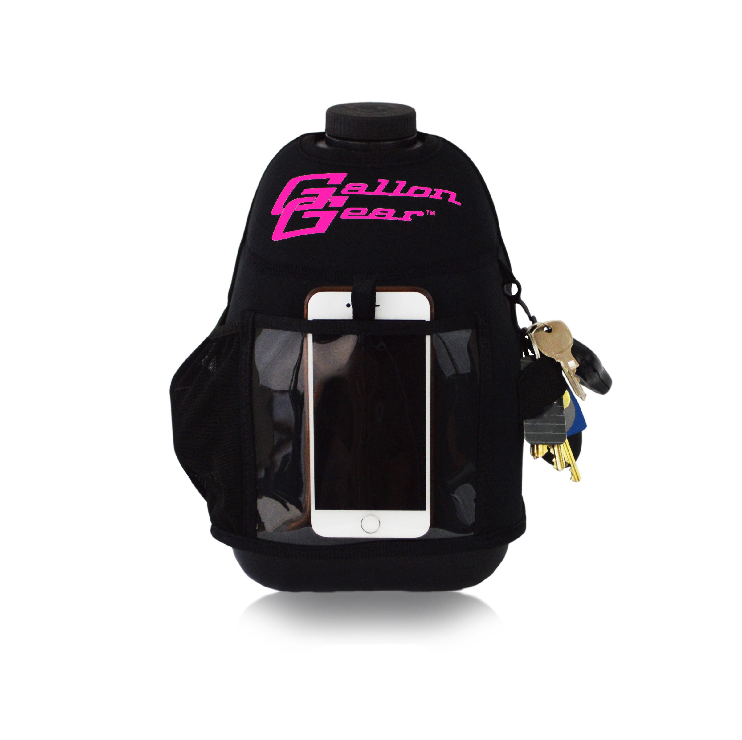 Black with Pink Logo Gallon Gear Fitness Hydration Cover